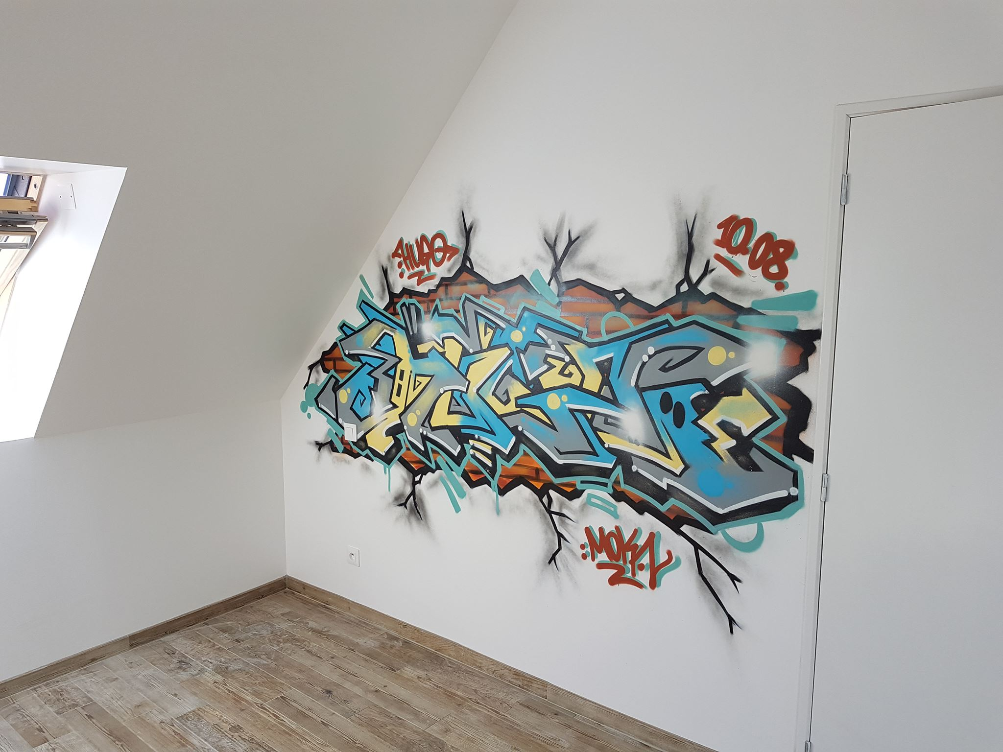 Peinture Tag Pour Chambre graffiti chambre d'enfant ou d'adolescent