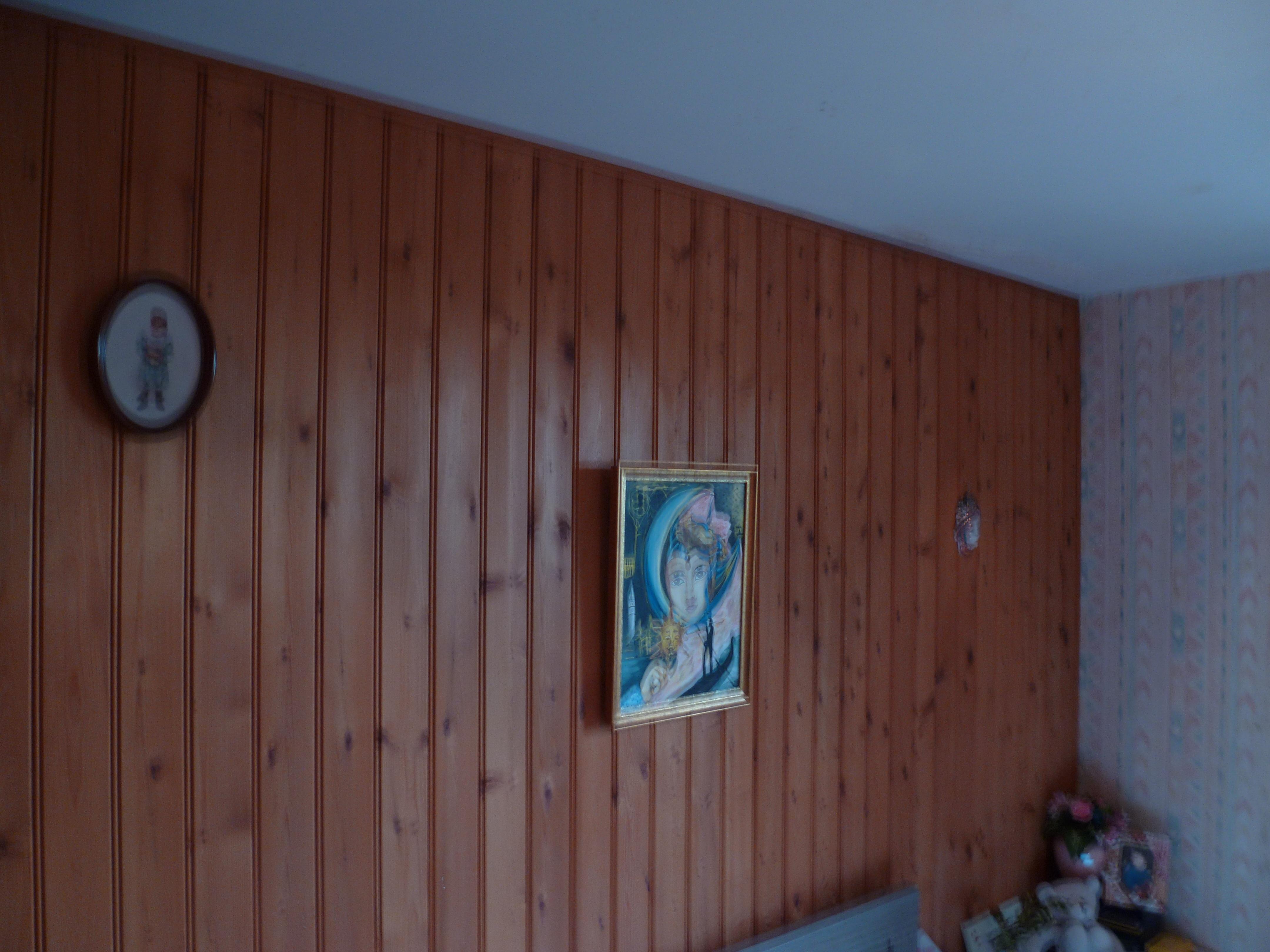 Peinture, effet cérusé sur poutres à Pruniers