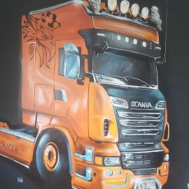 graffiti camion angers